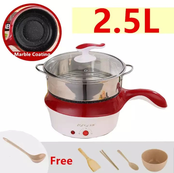 Lopol 2.5L Electric NonStick Ceramic Grill Frying Pan Rice Multi Function Cooker